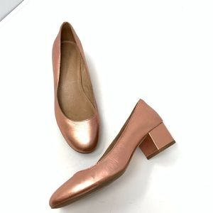 Madewell The Ella Pumps Metallic Heels size 5.5